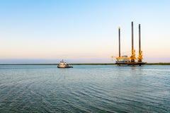 Offshore-Liftboat lizenzfreies stockbild