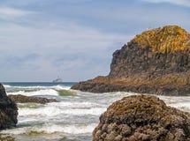 Offshore lighthouse on the Oregon Coast Stock Photos