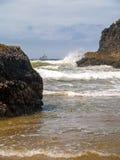 Offshore lighthouse on the Oregon Coast Stock Photography