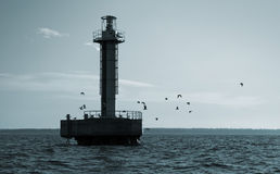 Offshore Lighthouse tower Royalty Free Stock Photography