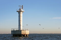 Offshore Lighthouse tower on Baltic Sea Royalty Free Stock Image