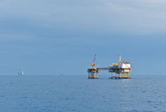 Offshore oil complex Royalty Free Stock Photos
