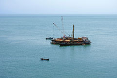 Offshore oil drilling platform Stock Photo