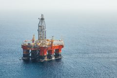 Offshore oil and gas platform. Working offshore oil and gas platform Royalty Free Stock Image