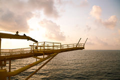 Offshore oil and gas production and exploration business. Production oil and gas plant and main construction platform in the sea Stock Images