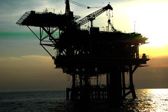 Offshore oil mechanical drilling Stock Photos