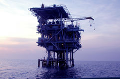 Offshore oil mechanical drilling Stock Image