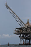 Offshore oil and natural gas platform royalty free stock image