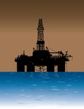 Offshore Oil Platform Royalty Free Stock Images