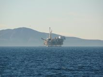 Offshore Oil Rig California Stock Photography