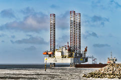 Offshore oil rig drilling platform. In Esbjerg, Denmark Royalty Free Stock Photos