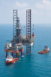 Offshore oil rig drilling platform Stock Images