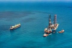 Offshore oil rig drilling platform Stock Images