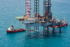Offshore oil rig drilling platform. In the gulf of Thailand 2015 Stock Images
