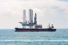 Offshore oil rig drilling platform. / in the gulf of Thailand Stock Photography