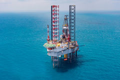 Offshore oil rig drilling platform. Offshore oil rig drilling platform/Offshore oil rig drilling platform in the gulf of Thailand Stock Image