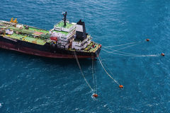 Offshore oil rig drilling platform. Oil tanker in the gulf of Thailand,blurred Royalty Free Stock Image