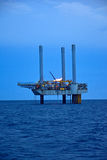 The offshore oil rig in early morning. Gulf of Thailand Stock Photo