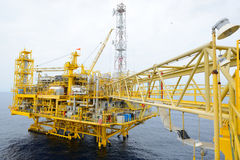 The offshore oil rig. In the gulf of Thailand Stock Photo