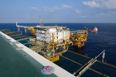 The offshore oil rig in the gulf of Thailand Royalty Free Stock Images
