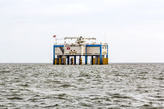 Offshore oil rig near Harlingen, Nederlande Stock Images