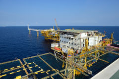 The offshore oil rig platform in the gulf of Thailand. Royalty Free Stock Photography