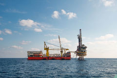 Offshore oil and rig platform Royalty Free Stock Images
