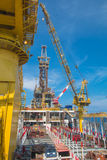 Offshore oil and rig platform Royalty Free Stock Photo