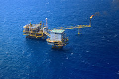 Offshore oil rig platform. Top view offshore oil rig platform Royalty Free Stock Images