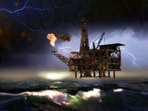 Offshore oil rig Stock Photography
