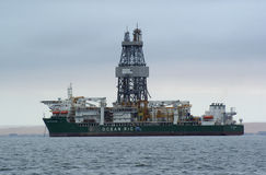 Offshore oil rig in Walvisbay Royalty Free Stock Photos