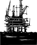 Offshore Oil Rig Royalty Free Stock Photography