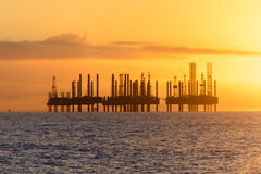 Offshore Oil Rigs Royalty Free Stock Photo