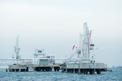 Offshore oil terminal Stock Photo