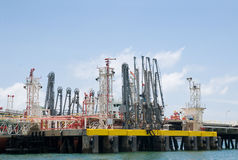 Offshore oil terminal Royalty Free Stock Images
