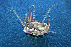 Offshore oilrig in the ocean. Royalty Free Stock Photography