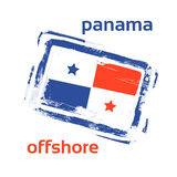 Offshore Panama Flag Stamp Grunge Sign Royalty Free Stock Photography
