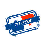 Offshore Panama Flag Stamp Grunge Sign. Vector Illustration Stock Photography