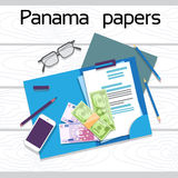 Offshore Panama Papers Documents Desk Business Folder Stock Photography