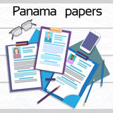 Offshore Papers Documents Company Business People Owners Profile Royalty Free Stock Photo