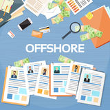Offshore Papers Documents Company Business People Owners Royalty Free Stock Photos
