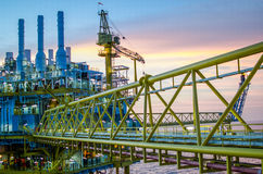 Offshore platform Royalty Free Stock Images