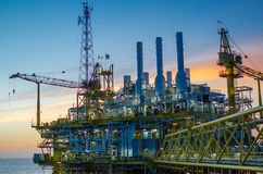 Offshore platform. The offshore platform in south of Thailand Stock Photo