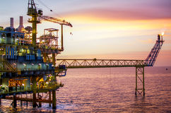 Offshore platform. The offshore platform in south of Thailand Royalty Free Stock Photography