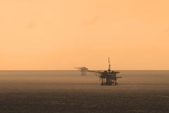 Offshore platform in the middle of the ocean Stock Photos