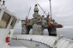 Offshore Platform and Vessel. Oil and Gas. Stock Photos