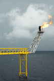 offshore production platform in a Gulf of Thailand Stock Photography