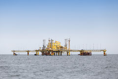 Offshore Production  Platform In the Middle of Ocean. Offshore Production Platform In the Middle of Ocean Royalty Free Stock Images