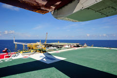 An offshore production platform Stock Images