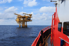 Offshore Production Platform For Petroleum Development Stock Images